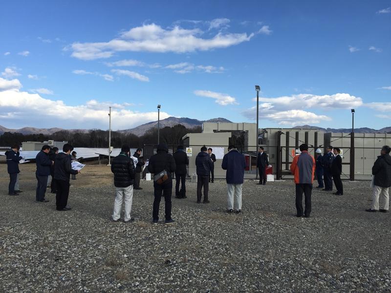 SOLAR ENERGY真壁太陽光発電所にて見学会を開催。